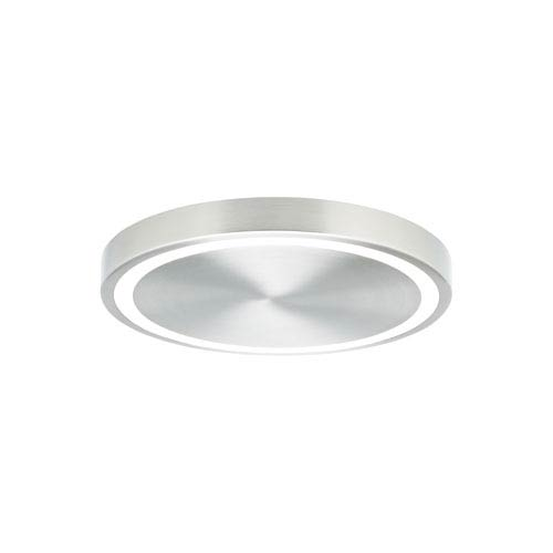 Crest Satin Nickel LED 12-Inch Flush Mount