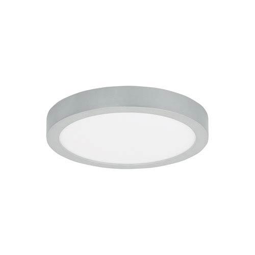 Tenur Round Silver LED 12-Inch Flush Mount