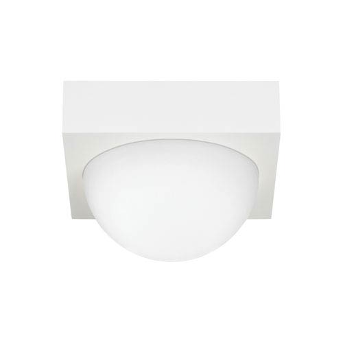 LBL Lighting Sphere Rubberized White LED Flush Mount with Frost Glass