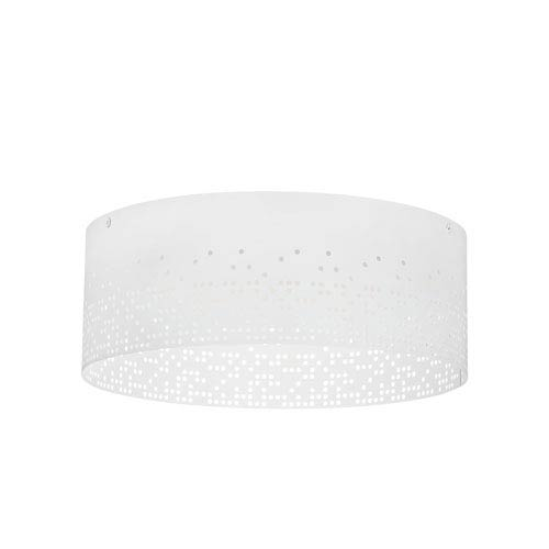 Crossblend White 13-Inch LED Flush Mount