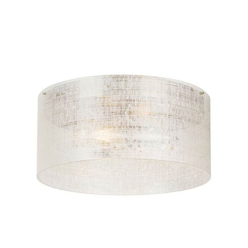 Vetra Satin Nickel Two-Light 13-Inch Flush Mount