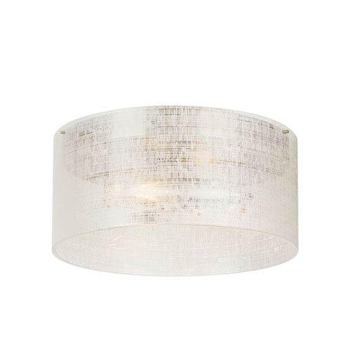 Vetra Satin Nickel 13-Inch LED Flush Mount
