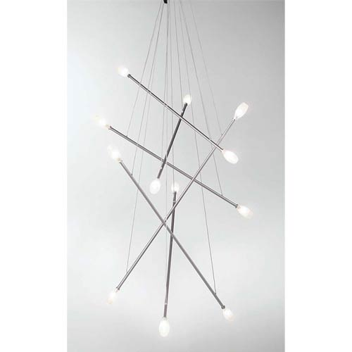 Batons Twelve-Light Chandelier
