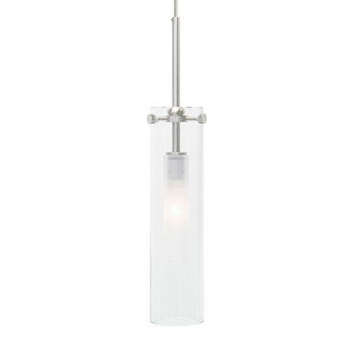 Top Satin Nickel One-Light Mini Pendant with Clear Glass