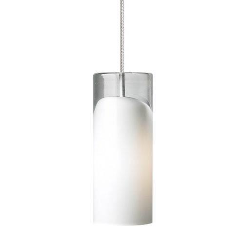 Horizon Satin Nickel One-Light Mini Pendant with Opal Glass