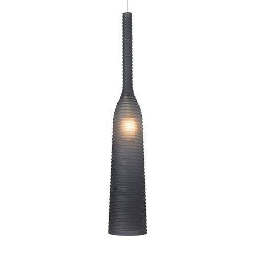 LBL Lighting Adara Satin Nickel Smoke Pendant