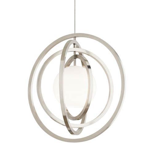 Oreon Satin Nickel 12-Inch LED Fusion Jack Pendant