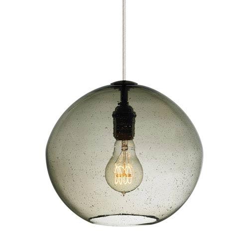 LBL Lighting Isla Bronze LED Mini-Pendant with Smoke Glass