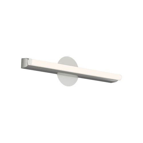 Linea Silver LED 20-Inch Bath Bar