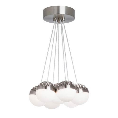 LBL Lighting Sphere Satin Nickel 7-Light LED Chandelier