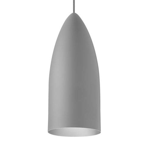 LBL Lighting Signal Rubberized Gray and Platinum LED Pendant