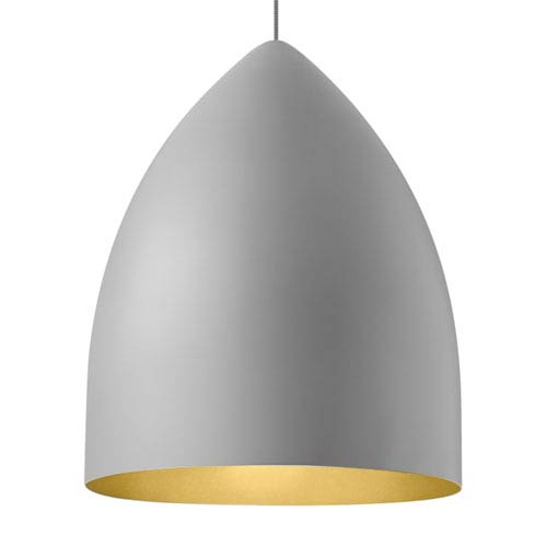 Tech Lighting Signal Grande Rubberized Gray and Gold LED Pendant