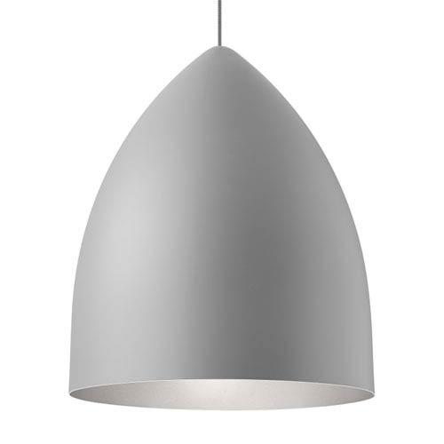 Tech Lighting Signal Grande Rubberized Gray and Platinum LED Pendant