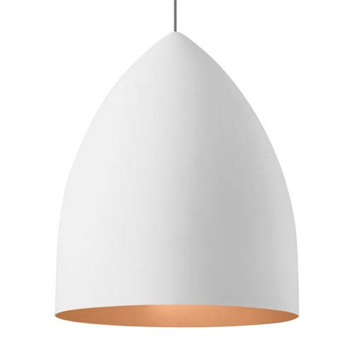 LBL Lighting Signal Grande Rubberized White and Copper LED Pendant