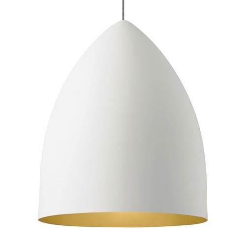 LBL Lighting Signal Grande Rubberized White and Gold LED Pendant