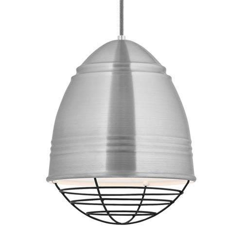 LBL Lighting Loft Brushed Aluminum and White LED Pendant