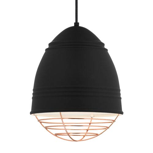 LBL Lighting Loft Rubberized Black and White LED Pendant
