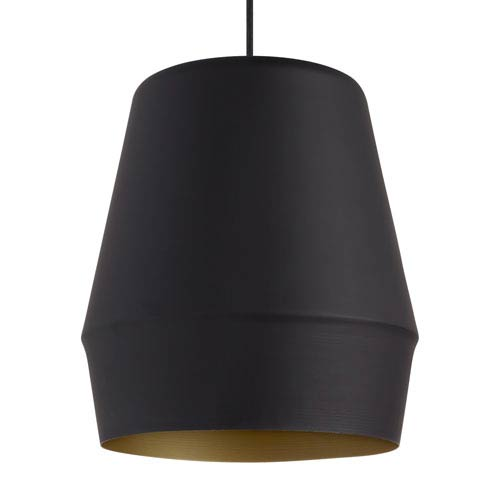 Allea Black and Gold One-Light 13-Inch Pendant