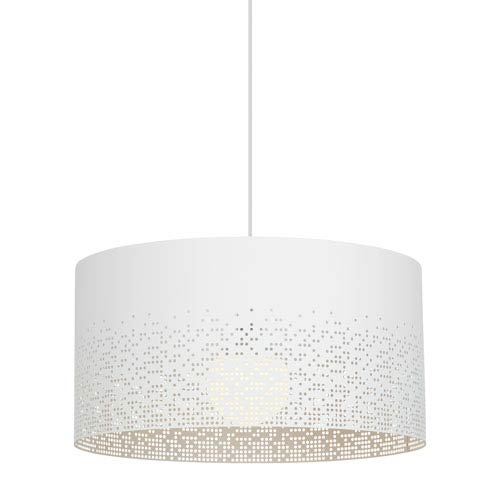 Crossblend White One-Light 20-Inch Pendant