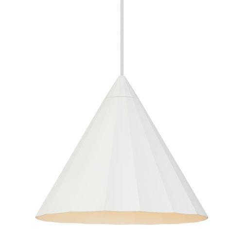 LBL Lighting Astora White 12-Inch LED Pendant