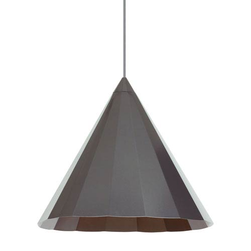LBL Lighting Astora Gun Metal One-Light 18-Inch Pendant