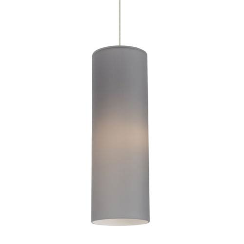 LBL Lighting Mati Satin Nickel 6-Inch 2700K LED Narrow Mini Pendant with Smoke Shade