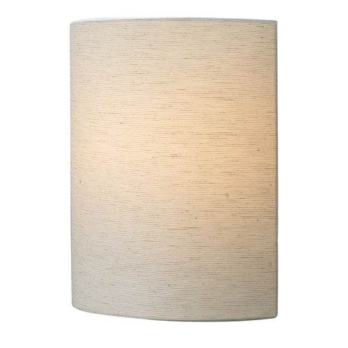 Fiona Silver One-Light LED Wall Sconce with Linen Shade