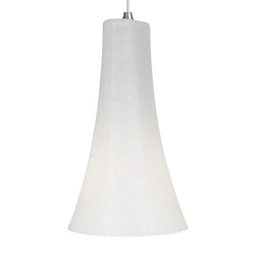 Indulgent Satin Nickel One-Light Fluorescent Mini Pendant with Opal Glass