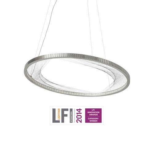 Interlace Satin Nickel One-Light LED Pendant