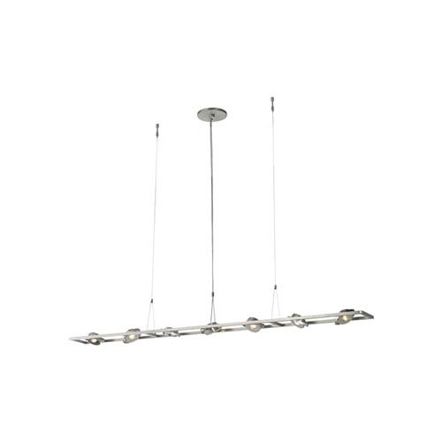 Calix Satin Nickel Seven-Light LED Pendant