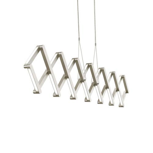 Xterna Satin Nickel LED Suspension Pendant
