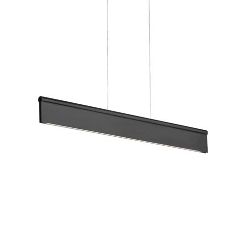 Ortex Black LED Linear Pendant