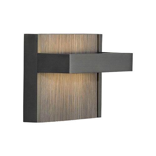 Ashland Bronze One-Light LED Wall Sconce with Grey Oak Decorative Insert