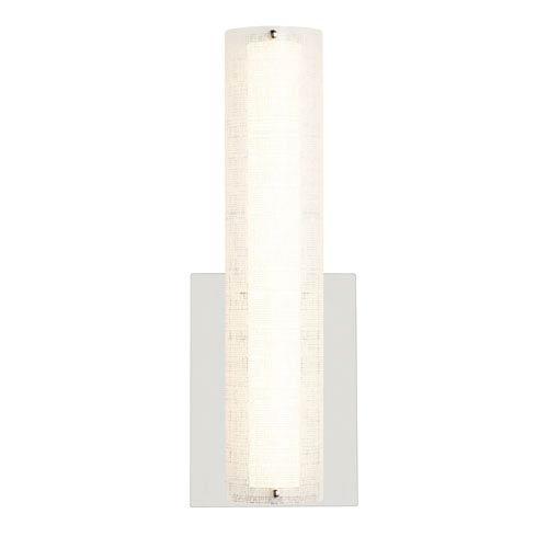 LBL Lighting Jarvas Polished Chrome 4-Inch LED Wall Sconce