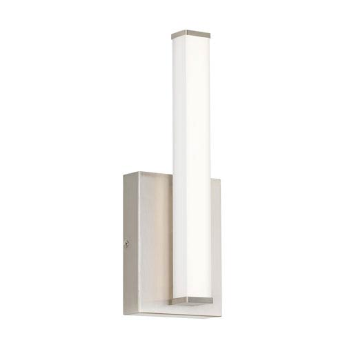 Lufe Satin Nickel 3-Inch LED Wall Sconce