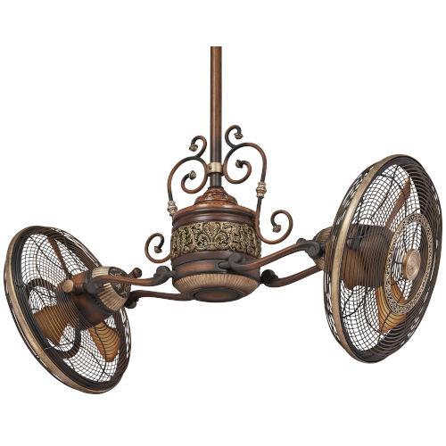 Traditional Gyro Belcaro Walnut 42-Inch LED Ceiling Fan