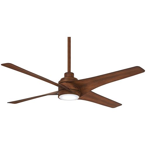 Swept Distressed Koa LED Ceiling Fan