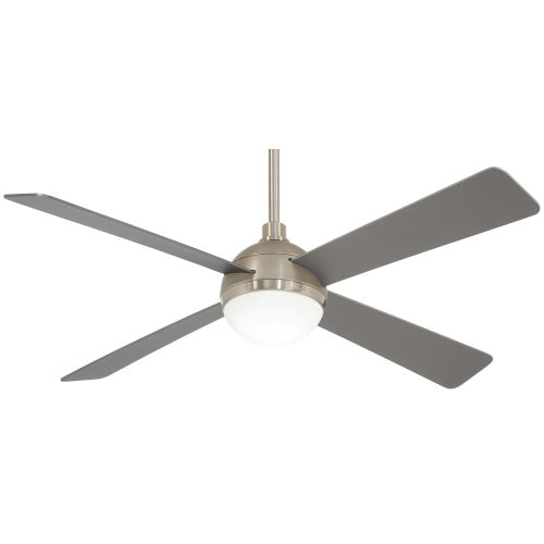 Orb Brushed Steel with Brushed Nickel 54-Inch LED Ceiling Fan