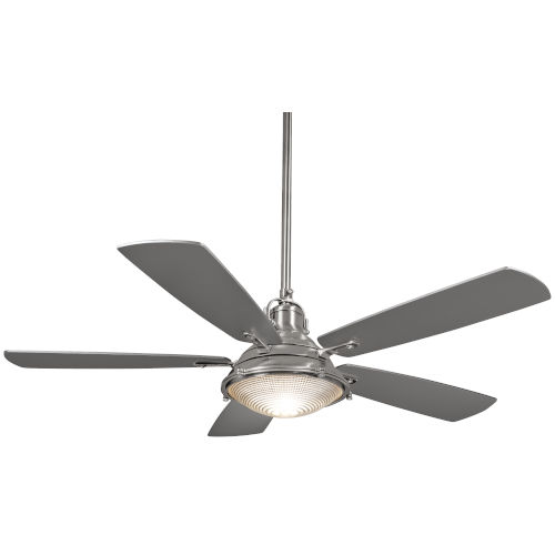Groton Brushed Nickel Wet 56-Inch LED Outdoor Ceiling Fan