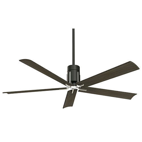Minka Aire Clean Matte Black And Brushed Nickel Led Ceiling Fan