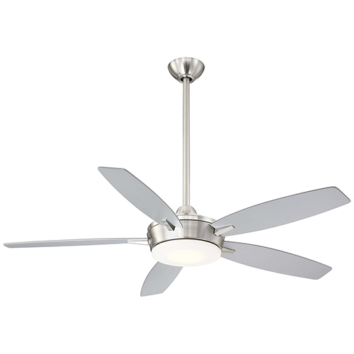 Espace Brushed Nickel and Silver LED Ceiling Fan