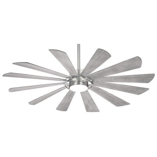 Windmolen Brushed Steel 65-Inch LED Smart Ceiling Fan