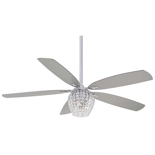 Bling Chrome LED Ceiling Fan