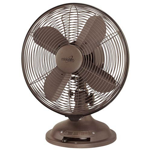 Oil Rubbed Bronze Oscillating Table Fan