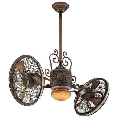42-Inch Traditional Gyro Belcaro Walnut Ceiling Fan