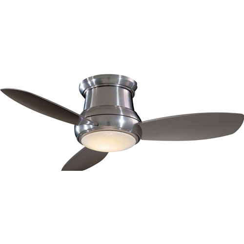Ceiling fans free shipping bellacor concept ii brushed nickel 44 inch flush led ceiling fan aloadofball Gallery