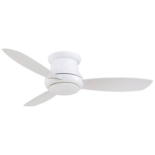 Concept II White 52-Inch Flush LED Ceiling Fan