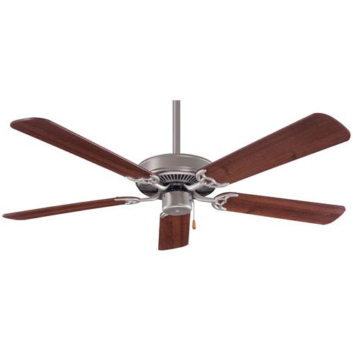 42-Inch Contractor Brushed Steel Ceiling Fan