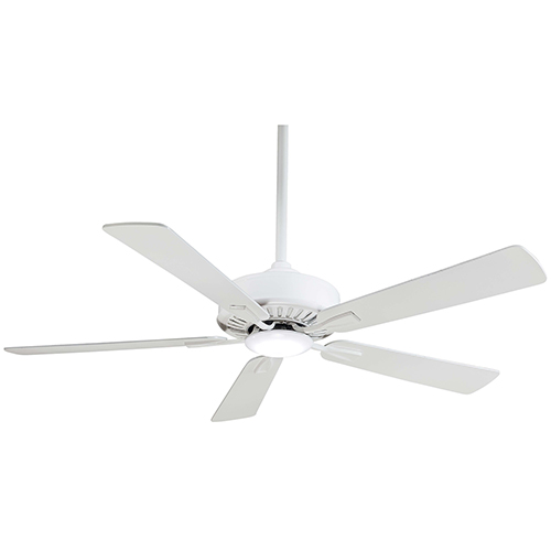 Contractor White 52-Inch LED Ceiling Fan