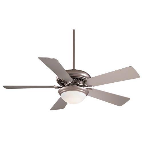 Minka Aire Supra Brushed Steel One Light 52-Inch Ceiling Fan